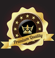 Golden Premium Quality Badge vector image