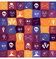 Halloween icons bright seamless pattern vector image vector image