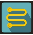 Heated towel rail icon flat style vector image vector image