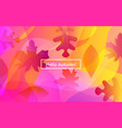 hello autumn layout with leaves for web page vector image vector image