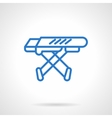 Ironing board blue line icon vector image vector image