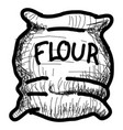 isolated vintage sketch of a flour sack vector image