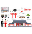 japan travel guide template set japanese vector image vector image