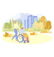 loving senior man walking with his disabled wife vector image vector image