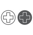 medical point line and glyph icon medicine and vector image vector image