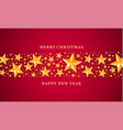 merry christmas gold star concept background vector image