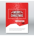 merry christmas invitation card design vector image