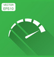 meter dashboard icon in flat style credit score vector image