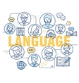 Modern thin line concepts of learning foreign vector image vector image