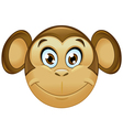 monkey emoticon vector image vector image