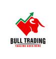 online trading business logo design vector image vector image
