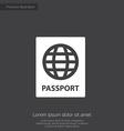 passport premium icon vector image