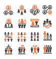 people management icon vector image vector image