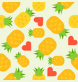 pineapple lover seamless pattern for wallpaper or vector image vector image