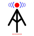 radio tower icon color fill style vector image
