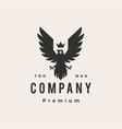 roaring bird king crown hipster vintage logo icon vector image vector image