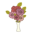 roses flower icon image vector image vector image