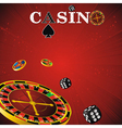 Roulette casino red vector | Price: 1 Credit (USD $1)