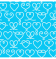 Seamless pattern made of rope hearts vector image vector image