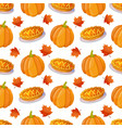 seamless pattern with pumpkin vector image vector image