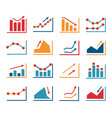 set business finance vector image vector image