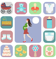 Set of icons pregnant vector image