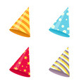 set of party hat vector image vector image