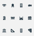 set simple structure icons vector image