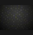 silver and gold stars on black background vector image
