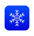 snowflake icon blue vector image vector image