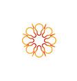 solar lamp logo vector image vector image