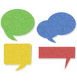 speech bubble templates in four colors and shapes vector image