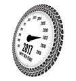 Speedometer 2017 year greeting vector image vector image