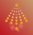 star christmas vector image vector image