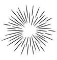 starburst sunburst hand drawn design element vector image