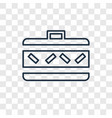 suitcase concept linear icon isolated on vector image