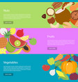 template design horizontal web banners for nuts vector image vector image