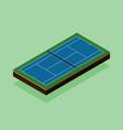 tennis court isometric flat design vector image vector image