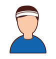 tennis player avatar character vector image vector image