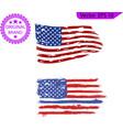 usa flag distressed american flag vector image vector image