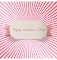 Valentines Day paper bend Banner Template vector image vector image