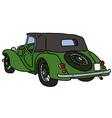 Vintage green car vector image