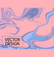 violet gradient moving decoration liquid blue vector image vector image