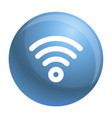 wireless icon outline style vector image