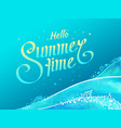 with lettering gradient hello summer vector image