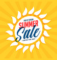 yellow summer sale sun background vector image vector image