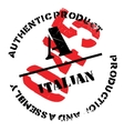 Authentic italian product stamp vector image