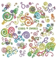 Curls and swirls design elements vector image