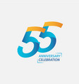 55 year anniversary celebration template design vector image vector image