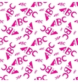 ABC letters seamless pattern Creative design in vector image vector image